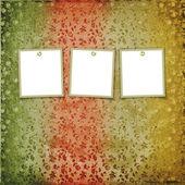 Drei frames für fotos auf dem floral ba — Stockfoto