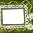 Stock Photo: Green abstract background with frame and