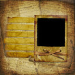 Royalty-Free Stock Photo: Old grunge frame on the abstract backgro