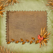 Grunge paper in scrapbooking style with — Stock Photo