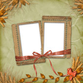 Grunge frames in scrapbooking style with — Stock Photo