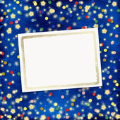Blue cheerful background with multicolor — Stock Photo
