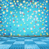 Multicolored room for happy holidays — Stock Photo