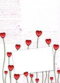 Gratulationskort till st alla hjärtans dag — Stockfoto