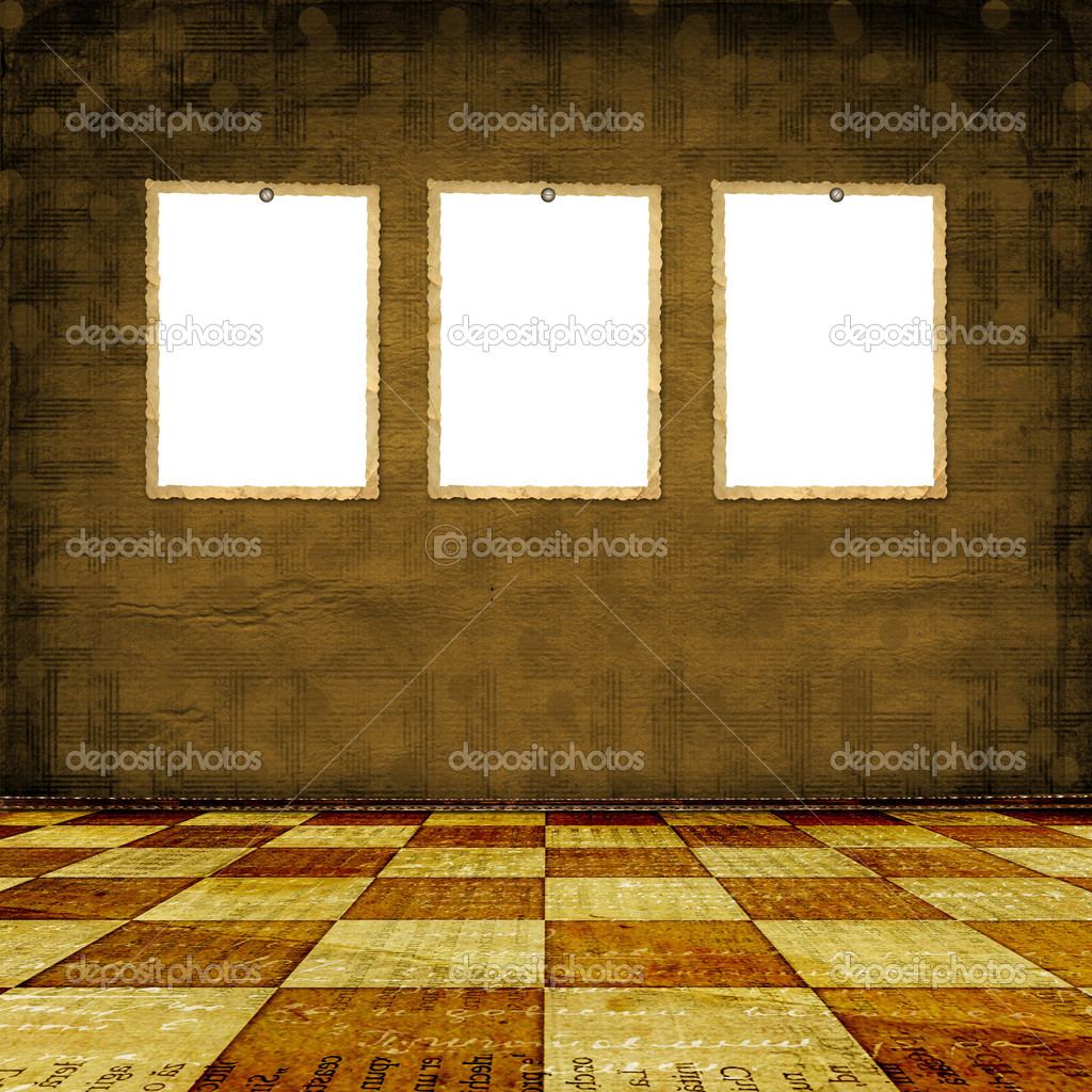 Old room, grunge industrial interior, worn  surface — Stock Photo #1888288