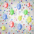 Multicolored background with balloons — Stock Photo
