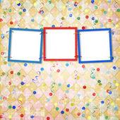 три рамки для фотографий — Стоковое фото