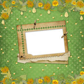 Grunge papers in scrapbooking style — Stock Photo