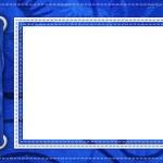 Blue framework for photos — Stock Photo