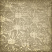 Grunge background with floral ornament. — Stock Photo