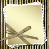 弓でお祝い枠組み — ストック写真