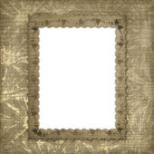 Victorian frame with floral ornament — Stock Photo