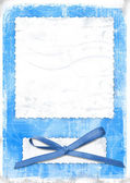 Blue card for greeting — Stock Photo