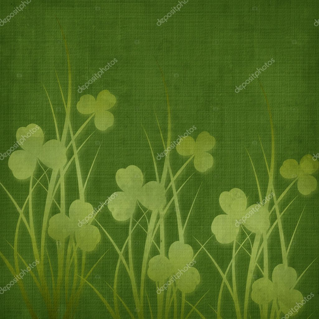 Design for St. Patrick's Day.Flower ornament.  Stock Photo #2025203
