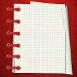 Red notebook — Stock Photo