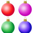 Four New Year's spheres - Stock Photo
