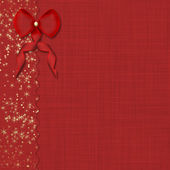Red bow and beautiful background — Stock Photo