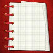 Cuaderno rojo — Foto de Stock