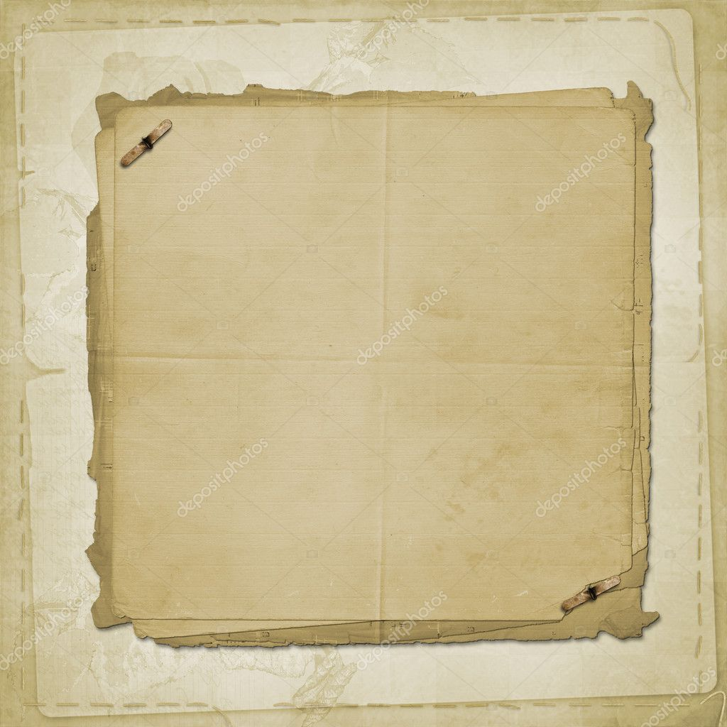 Alienated old paper for cover or photo album — Stock Photo #2096219
