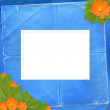Frame with bunch of flower — Stock Photo