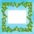 Carved frame with flower garland — Stock Photo