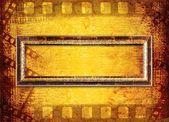 Old filmstrip on the paper background — Stock Photo