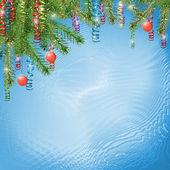 Cartão de felicitações com fitas — Fotografia Stock