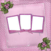Three frame with ribbons and bow — Stock Photo
