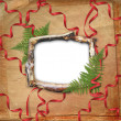 Wooden frame for picture or photo — Stock Photo