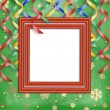 Frame on the christmas background — Stock Photo