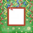 Winter frame on the christmas background - Stock Photo