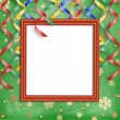 Frame on the christmas background — Stockfoto