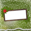 Frame for photo with pearls and bunch — Stock Photo