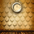 Стоковое фото: Antique clock face with lace