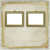Picture brown frame — Stockfoto