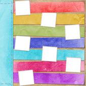 Tarjeta multicolor para el anuncio — Foto de Stock