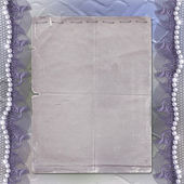 Grunge lilac frame for photo — Stock Photo