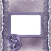 Grunge lilac card for invitation or congratulati — Stock Photo