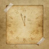 Antique clock face with hours — Stock Photo