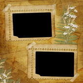 Ancient abstract background with frame — Stock Photo