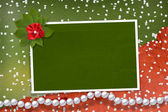 Frame for photos with pearls and bunch — Stock Photo