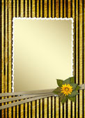 Postcard for invitation with gold frame — Stock Photo
