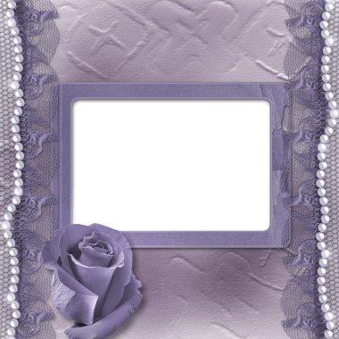 Grunge lilac card for invitation or congratulati