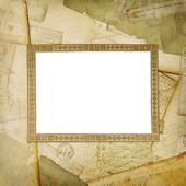 Ročníku ve věku pozadí, staré pohlednice — Stock fotografie