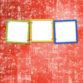 Three frames for photos — Stock Photo