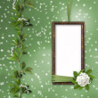 Green abstract background with frame — Stock Photo