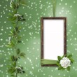 Stock Photo: Green abstract background with frame
