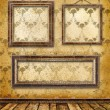 Stock Photo: Old gold frames Victorian style