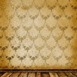 Royalty-Free Stock Photo: Old room with worn wallpaper