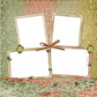Four frames with ribbons and bow — Stock Photo